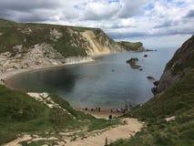 Dordle Door Dorset uk. Sea rocks traveling dorset nature Stock Photos