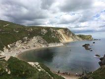 Dordle Door Dorset uk. Sea rocks traveling dorset nature Royalty Free Stock Photos
