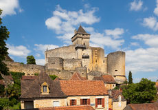 Dordogne. View of Dordogne castle in France royalty free stock image