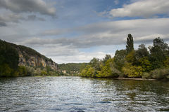 Dordogne boats Chateau de La Malartrie Royalty Free Stock Photo