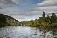 Dordogne boats Chateau de La Malartrie Royalty Free Stock Photo