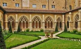 Dordogne, the Cadouin abbey in Perigord stock images