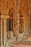 Dordogne, the Cadouin abbey in Perigord stock photography