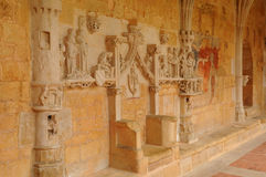Dordogne den Cadouin abbotskloster i Perigord royaltyfri fotografi