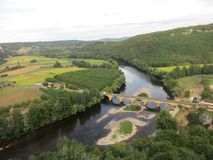 Dordogne flod, Frankrike royaltyfri fotografi