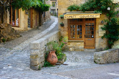 Dordogne gourmet store front in a traditional town Stock Photography