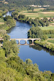 Dordogne River At Domme Village Royalty Free Stock Photography