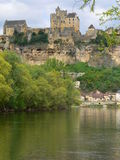 Dordogne river, Beynac-et-cazenac ( France ) Royalty Free Stock Images