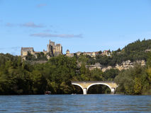 Dordogne River and Beynac-et-Cazenac, France Royalty Free Stock Photography