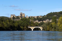 Dordogne River and Beynac-et-Cazenac, France Royalty Free Stock Image