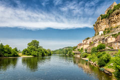 Dordogne river at Beynac-et-Cazenac Stock Image