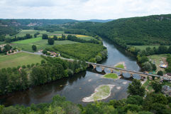 Dordogne river. At Castelnaud in France Royalty Free Stock Images