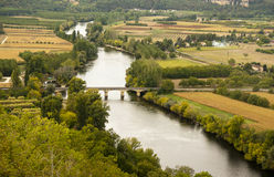Dordogne river and Dordogne valley France Royalty Free Stock Images