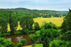 Dordogne river in France Stock Image