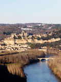 Dordogne River and the French Chateau Beynac Royalty Free Stock Photo