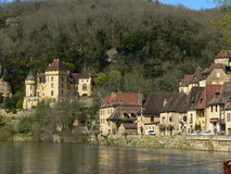 Dordogne River, La Roque-Gageac ( France ) Stock Photos