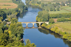 Dordogne river from the town of Domme, France Stock Images