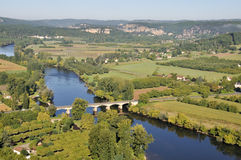 Dordogne river from the town of Domme, France Royalty Free Stock Image