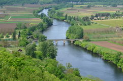 Dordogne River Valley Frankreich Lizenzfreies Stockbild