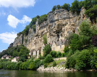 The Dordogne's La Roque-Gageac Royalty Free Stock Images