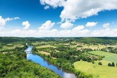 Dordogne-Tal in Frankreich Stockbild