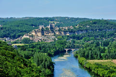 Dordogne valley in Beynac Royalty Free Stock Image