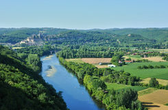 Dordogne valley in Beynac Royalty Free Stock Photo