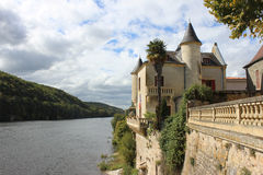 Dordognen på Lalonde, Bergerac Arkivfoto