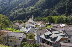 Dordolla. A view of Dordolla, a small alpine village belonging to the municipality of Moggio Udinese, in the Italian region of Friuli Stock Photography