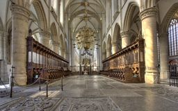 Dordrecht Cathedral Royalty Free Stock Photos