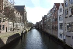 Dordrecht del canal los Países Bajos Fotografía de archivo