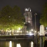 Dordrecht entro la notte Fotografia Stock