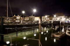 Dordrecht entro la notte Immagini Stock Libere da Diritti