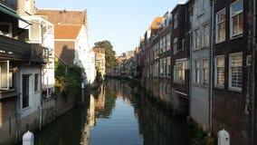 Dordrecht kanał Zdjęcie Royalty Free