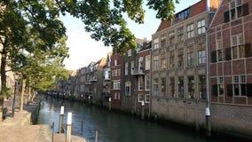 Dordrecht kanal Arkivbilder