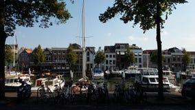 Dordrecht kanal Arkivbild