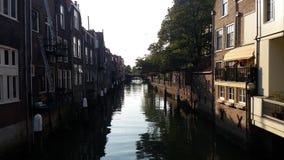 Dordrecht kanal Fotografering för Bildbyråer