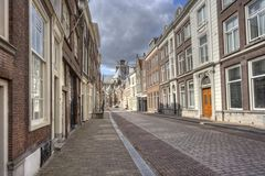 Dordrecht Street Royalty Free Stock Photography