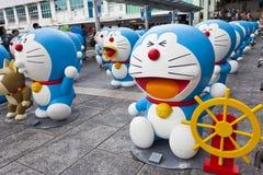 Doreamon陈列在香港 免版税库存图片