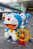 Doreamon陈列在香港 库存图片