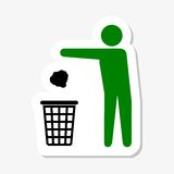 DoRecycle bin sign icon. Recycle bin sign icon, simple sign Stock Photography