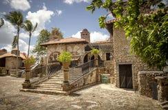 Dorf Altos de Chavon, La Romana in der Dominikanischen Republik Lizenzfreie Stockfotos