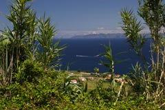 Dorf auf atlantischer Küste Lizenzfreie Stockfotografie