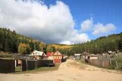 Dorf auf Baikal See Stockfoto