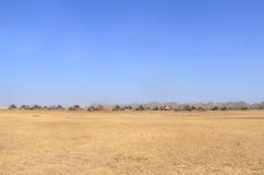 Dorf auf dem südwestlichen Sudan. Lizenzfreie Stockbilder