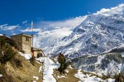 Dorf auf der Annapurna-Wanderung Lizenzfreie Stockfotos