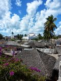 Dorf auf Insel von Mosambik stockfoto