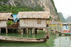 Dorf auf Meer Stockfoto