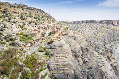 Dorf auf Saiq-Hochebene Lizenzfreies Stockfoto