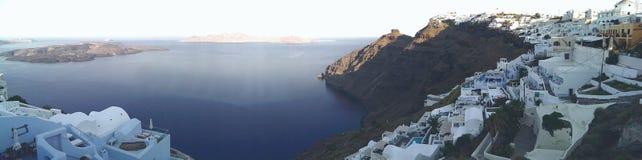 Dorf auf Santorini-Insel stockfoto